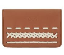 Cardholder White/Brown Portemonnaie