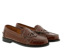 Schuhe Moccasin Belly Croc Toffee