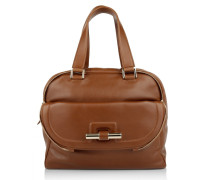 Tasche - Justine Large Leather Tote Brown