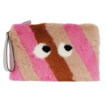 Large Furry Clutch Eyes Clementine Mink