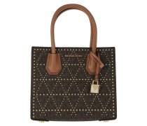 Mercer Stud Medium Messenger Brown Tote