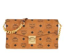 Umhängetasche Millie Visetos Monogram Print Shoulder Bag Leather Cognac