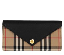 Portemonnaie Vintage Check Continental Wallet Black