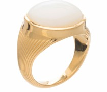 Ring Round Mother of Pearl Cabachon Statement