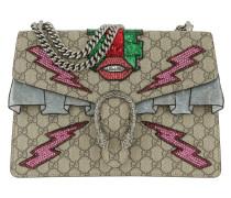 Dionysus GG Supreme Embroidered Bag Taupe Tote