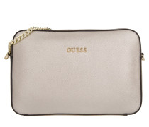 Isabeau Large Crossbody Top Zip Silver
