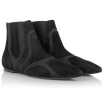 Boots & Booties - Flat Bootie Suede Noir