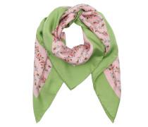 GG Logo Rose Print Silk Scarf Rose/Multi Schal grün