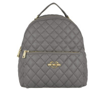 Quilted Nappa Backpack Trapuntata Grigio Rucksack