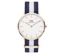 Uhr Classic Glasgow 40 mm Blue White