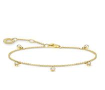 Armband Bracelet White Stones Pearl