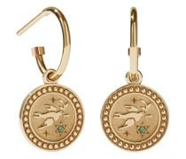 Ohrringe Amulet Earrings Peace Green Sapphire