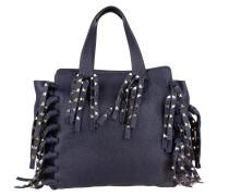 Tasche - Rockstud Double Handle Fringes Dark Blue