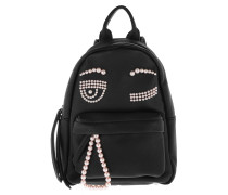 Backpack Eco Flirting Beads Small Nero/Black Rucksack
