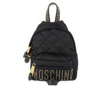 Mini Logo Backpack Nylon Black Rucksack