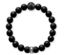 Armband Bracelet Obsidian Silver