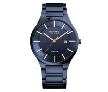 Uhr Watch Titanium/ Men Blau