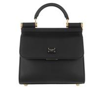 Umhängetasche Top Handle Mini Bag Leather Black