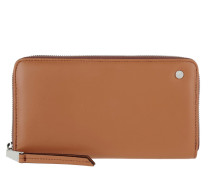 Carmen Calf Wallet Cuoio/Orange Portemonnaie cognac