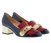 GG Marmont 55 Pumps Red/Blue/White