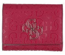 Portemonnaie Chic Shine Wallet Small Trifold Berry