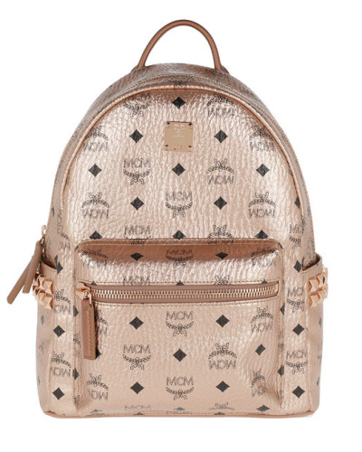 Rucksack Stark Backpack Small Medium Champagne Gold rosa