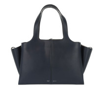Tasche - Tri-Fold Medium Calfskin Tote Navy Blue - in blau