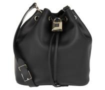 Tasche - Padlock Bucket Bag Nero