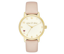 Metro Winding Gold Vachetta Watch Nude Armbanduhr