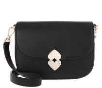 Umhängetasche Lula Small Saddle Bag Black