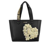 Shopping Bag Metallic Heart Oro Umhängetasche gold