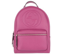 Soho Backpack Grained Pink Rucksack pink