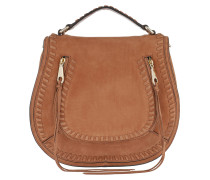 Vanity Nubuck Saddle Bag Almond Satchel