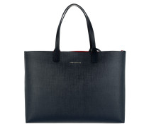 Love Tommy Reversible Tote Navy/Red rot