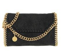 Umhängetasche Mini Falabella Crossbody Bag Shaggy Deer Black/Gold