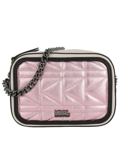 K/Kuilted Pink Camera Bag Metallic pink