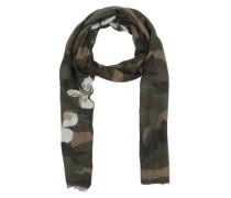 Mariposa Silk Scarf Army Green Schal braun