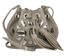 Gem Mini Bucket Bag Gray Crystal Beuteltasche grau