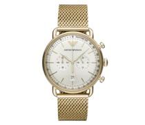 Uhr Aviator Watch Dress Gold