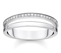 Ring White Stones