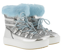 Snow Boot Full Fur Silver Schuhe