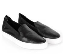 Loafers & Slippers - Burke Nappa Croc Emboss Black