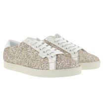 Sneakers Triomphe Low Lace Up Gold/White