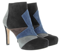 Boots & Booties - Suede Ankle Booties Black