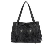 Fringed Handle Bag Black Umhängetasche