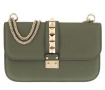 Rockstud Lock Shoulder Bag Medium Green