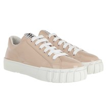 Sneakers Low Top Leather Cipria/Bianco