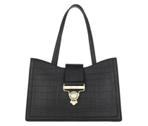 Tote Shopping Bag Leather Nero