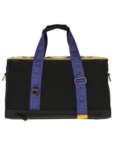 Reisetasche Aventin Nylon Leather Weekender Black schwarz