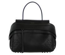 Wave Tote Bag Calfskin Mini Black Umhängetasche blau